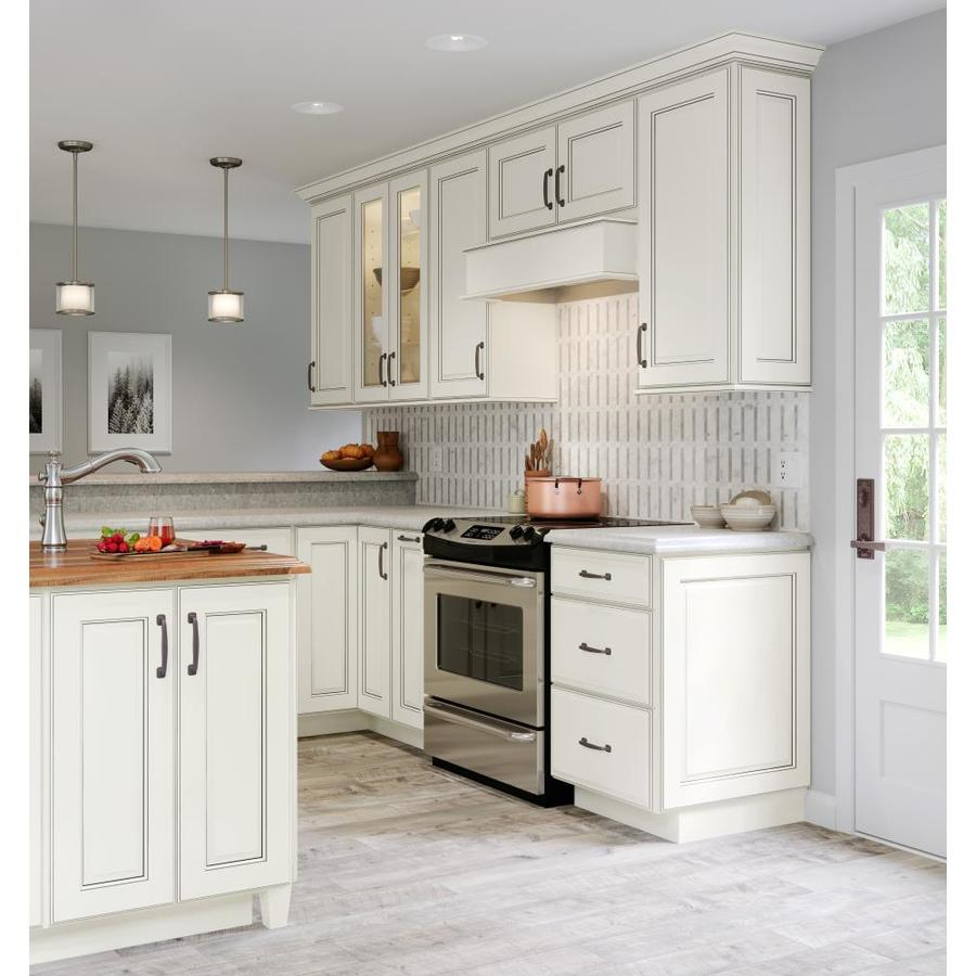 Allen Roth Bickershire 27 In W X 30 125 In H X 12 In D Pewter Maple Blind Corner Wall Semi Custom Cabinet In The Semi Custom Kitchen Cabinets Department At Lowes Com