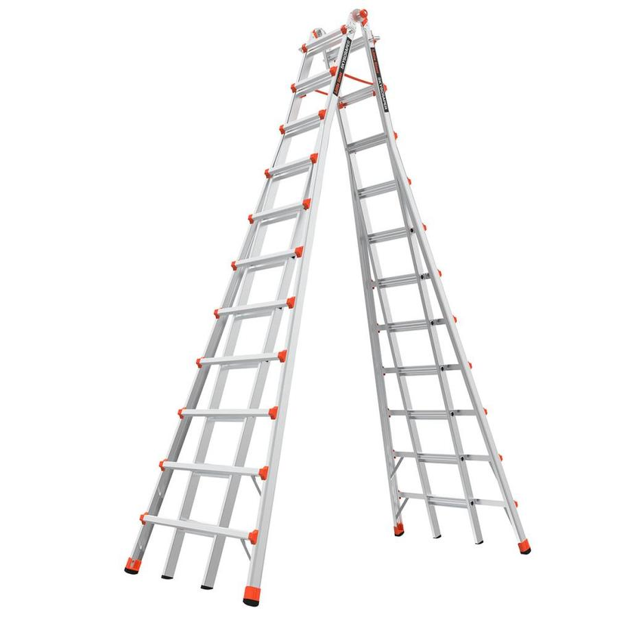 Little Giant Ladders Skyscraper 21-Ft Aluminum Type 1A - 300 Lbs. Capacity Telescoping Step Ladder 10121