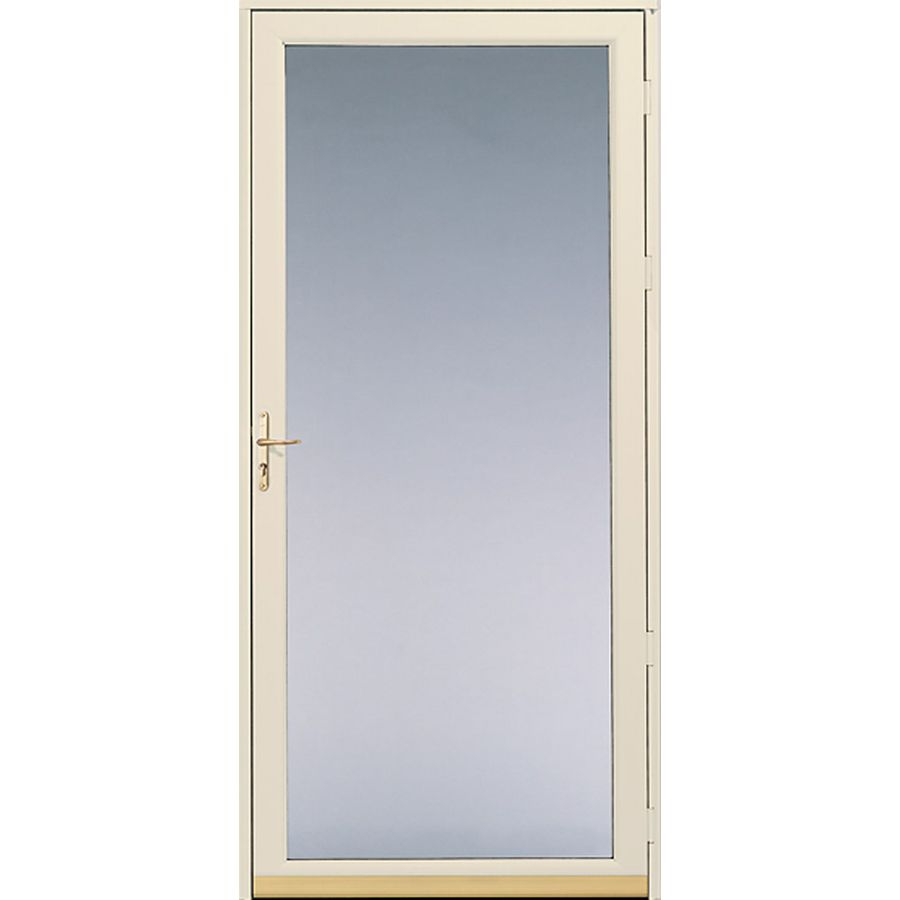 Shop Pella White Full View Safety Fixed Glass Screen Storm