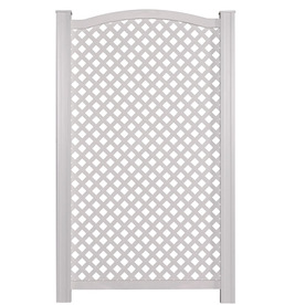 Us Fence And Yard Vinyl Privacy Arch Screen At Lowes Vinyl