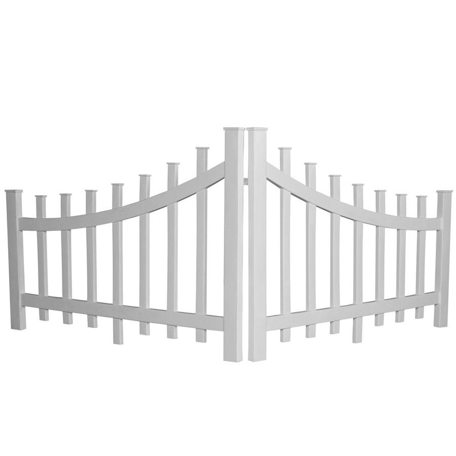 Shop Barrette White Vinyl Fence Panel Common 48 In X 32