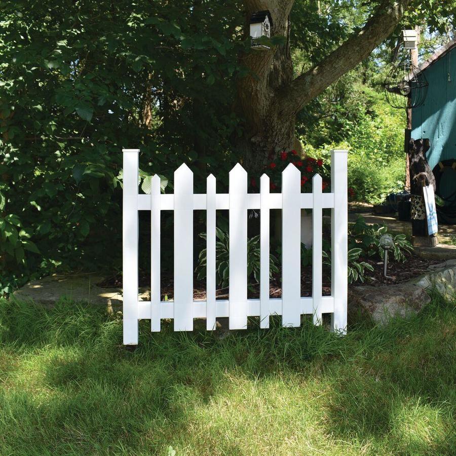 Gatehouse White Vinyl Fence Panel Common 31 In X 38