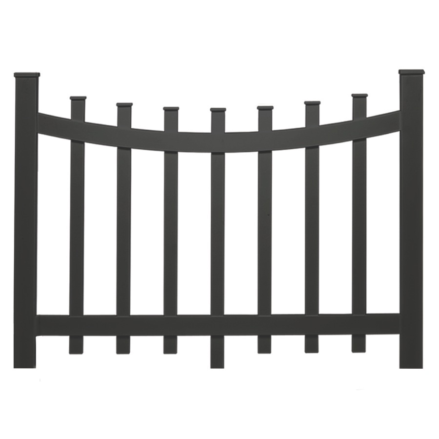 Shop Barrette 38-in x 47-in Black Vinyl Fence Panel at ...