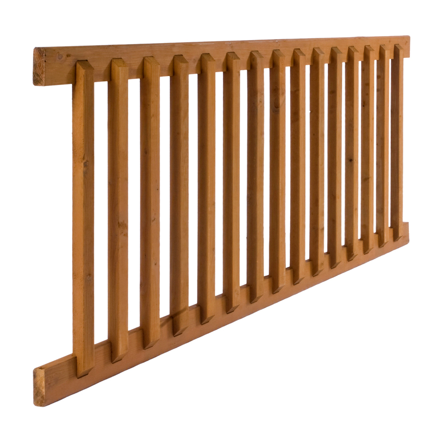 Shop Severe Weather Treated Deck Railing System Common