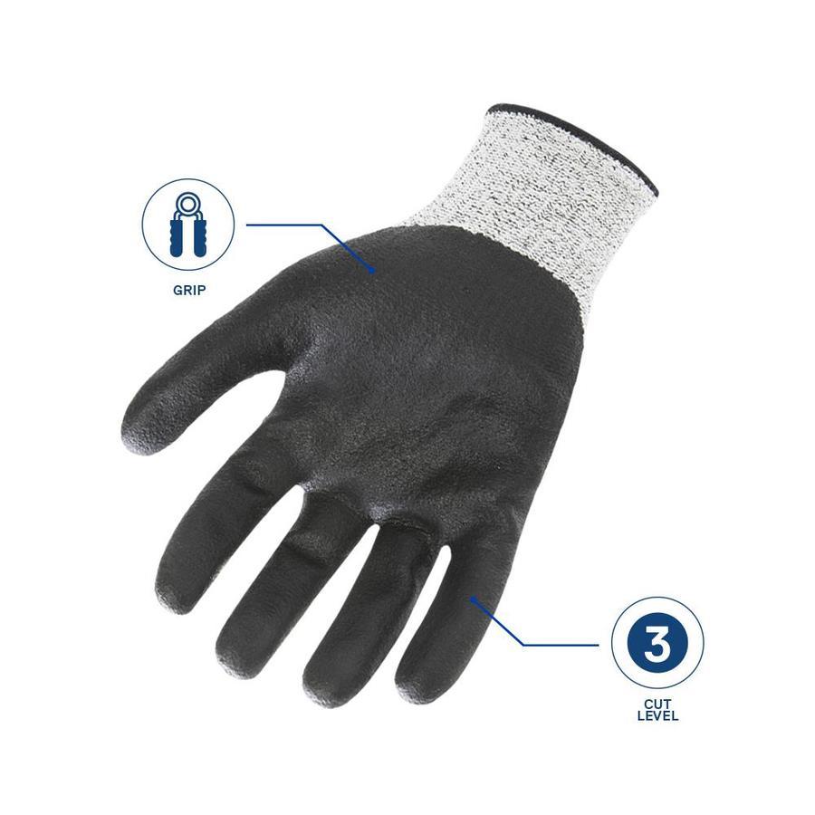 Kobalt Large X Large Mens Nitrile Nitrile Dipped Multipurpose Gloves In The Work Gloves Department At Lowes Com
