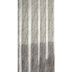 Display Product Reviews For Polyester Gray Patterneded Shower Curtain 70 In X 72