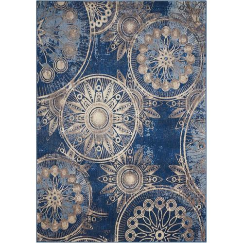 Nourison Somerset Denim Rectangular Indoor Area Rug (Common: 2 x 3; Actual: 2-ft W x 2-ft L x 0.5-ft dia) 34297