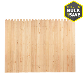 Severe Weather Pine Dog-Ear Wood Fence Picket Panel (Common: 6-ft x 8-ft; Actual: 6-ft x 8-ft) 635522