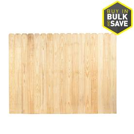 Severe Weather Pressure Treated Pine 5.5 in Picket Privacy Fence Panel (Common: 8ft x 6ft: Actual: 8ft X 6ft)
