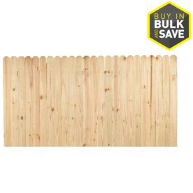 Severe Weather Pine Dog-Ear Pressure Treated Wood Fence Privacy Panel (Common: 4-ft x 8-ft; Actual: 4-ft x 8-ft) SFP48T25E