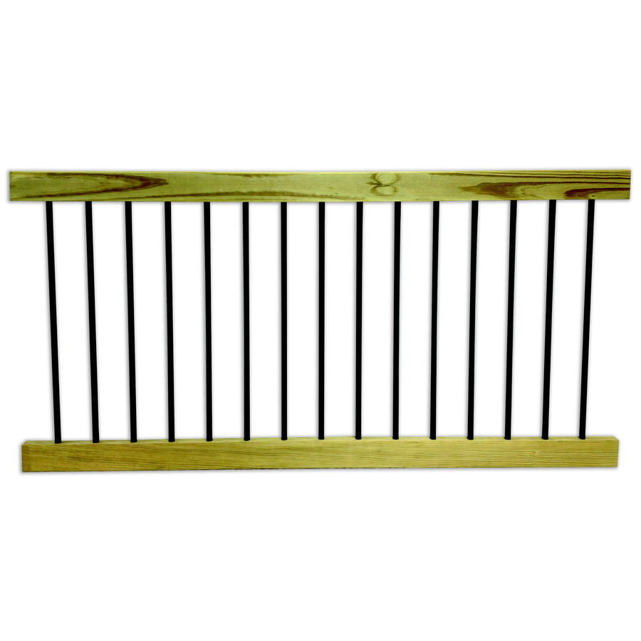 Shop Treated Deck Railing System Common 34 In X 72 In