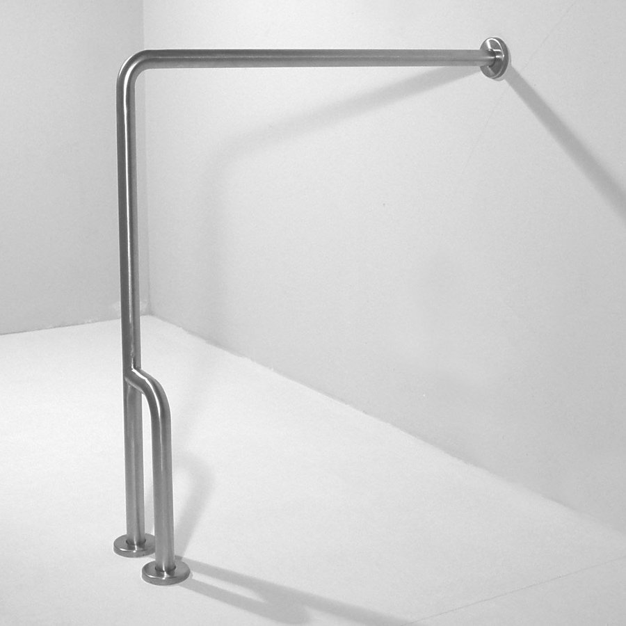 Ponte Giulio USA Satin Steel Floor Mounted Grab Bar