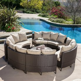Display Product Reviews For Newton 10 Piece Wicker Frame Patio Conversation  Set With Taupe Cushions