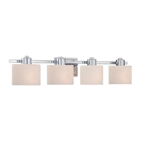 Allen + Roth 4-Light 6.5-In Polished Chrome Oval Vanity L...
