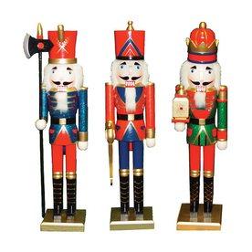 Santa's Workshop King, Guard, And Soldier Nutcracker Figu...