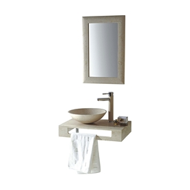 Mtd Vanities Rome Galala Marble Vessel Round Bathroom Sin...