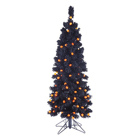 Northlight 4.5-Ft Pre-Lit Slim Artificial Halloween Tree ...