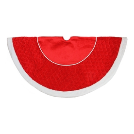 Northlight 48-In Red Polyester Christmas Tree Skirt Atg12...