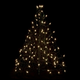Crab Pot Trees 2-ft 1-in Pre-Lit Artificial Christmas Tree with Clear White Incandescent Lights G2C