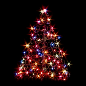 Crab Pot Trees 2-ft 1-in Pre-Lit Artificial Christmas Tree with Multicolor Incandescent Lights G2M