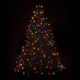 Crab Pot Trees 2-ft 11-in Pre-Lit Artificial Christmas Tree with Multicolor Incandescent Lights G3M