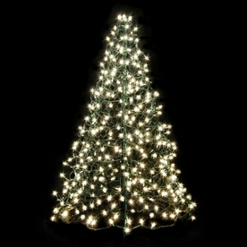 Crab Pot Trees 4-ft Pre-Lit Artificial Christmas Tree with Clear White Incandescent Lights G4C
