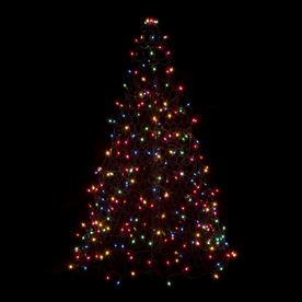Crab Pot Trees 4-ft Pre-Lit Artificial Christmas Tree with Multicolor Incandescent Lights G4M