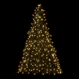 Crab Pot Trees 4-ft 9.6-in Pre-Lit Artificial Christmas Tree with Clear White Incandescent Lights G5C