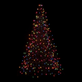 Crab Pot Trees 4-ft 9.6-in Pre-Lit Artificial Christmas Tree with Multicolor Incandescent Lights G5M