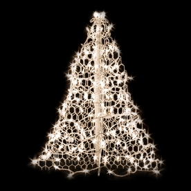 Crab Pot Trees 2-ft 11-in Pre-Lit Artificial Christmas Tree with Clear White Incandescent Lights W3C