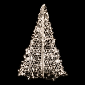Crab Pot Trees 4-ft Pre-Lit Artificial Christmas Tree with Clear White Incandescent Lights W4C