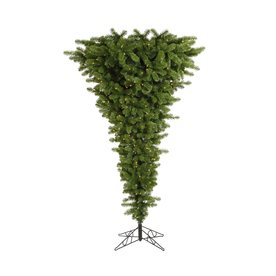 Vickerman 7-ft 6-in Pre-Lit Upside-Down Artificial Christmas Tree with Clear White Incandescent Lights A107476