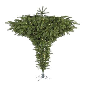 Vickerman 7-ft 6-in Pre-Lit Upside-Down Artificial Christmas Tree with Warm White LED Lights A860176LED