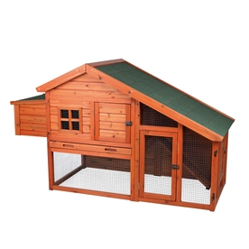 Trixie Chicken Coop with View Finish: Glazed Pine