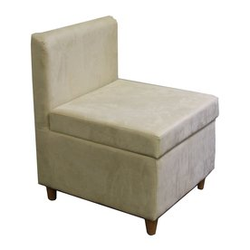 ORE International Living Room Chairs 20.5 in. Polyurethane Accent Chair with Hidden Storage in Cream ivory HB4460