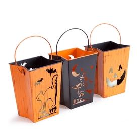 Melrose International Set Of 3 Happy Halloween Lanterns W...