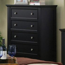 Coaster Furniture Sandy Beach Black 4-Drawer Chest 201325