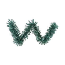 Vickerman Pre-Lit 9-Ft L Tinsel Garland Teal Incandescent...