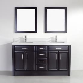 Spa Bathe Calumet Espresso Undermount Double Sink Bathroo...