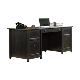 Display Product Reviews For Edge Water Transitional Estate Black Executive Desk