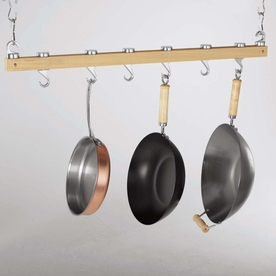 Concept Housewares 36-In X 3-In Brown Bar Pot Rack Pr-40200