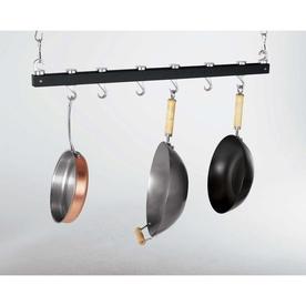 Concept Housewares 36-In X 3-In Black Bar Pot Rack Pr-40215