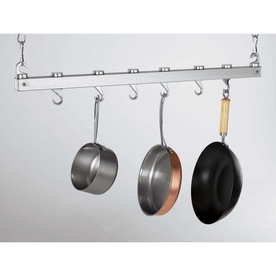 Concept Housewares 36-In X 3-In Chrome Bar Pot Rack Pr-40219