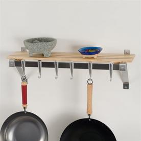 Concept Housewares 30-In X 8-In Brown Rectangle Pot Rack ...