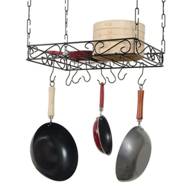 Concept Housewares 24-In W X 16-In D Black Rectangle Pot ...