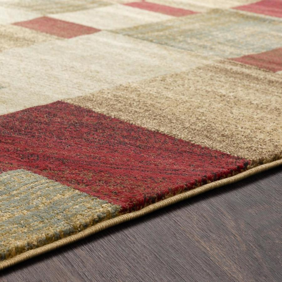 Surya Riley Burgundy Round Indoor Geometric Industrial Area Rug In The Rugs Department At Lowes Com
