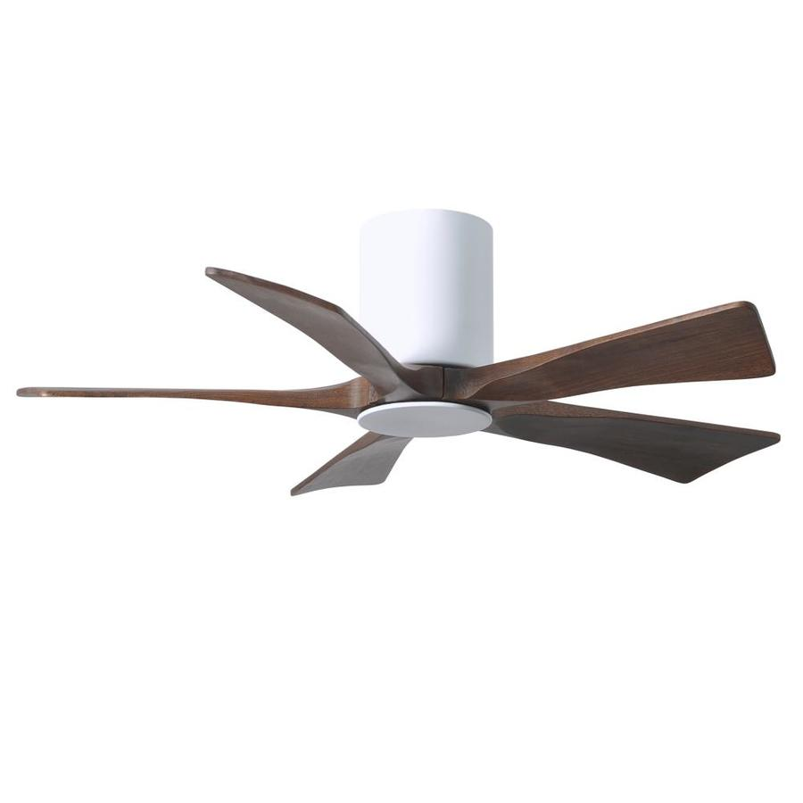 Matthews Fan Company Irene Hlk 42 In Gloss White Led Indoor Outdoor Flush Mount Ceiling Fan With Light And Remote 5 Blade In The Ceiling Fans Department At Lowes Com