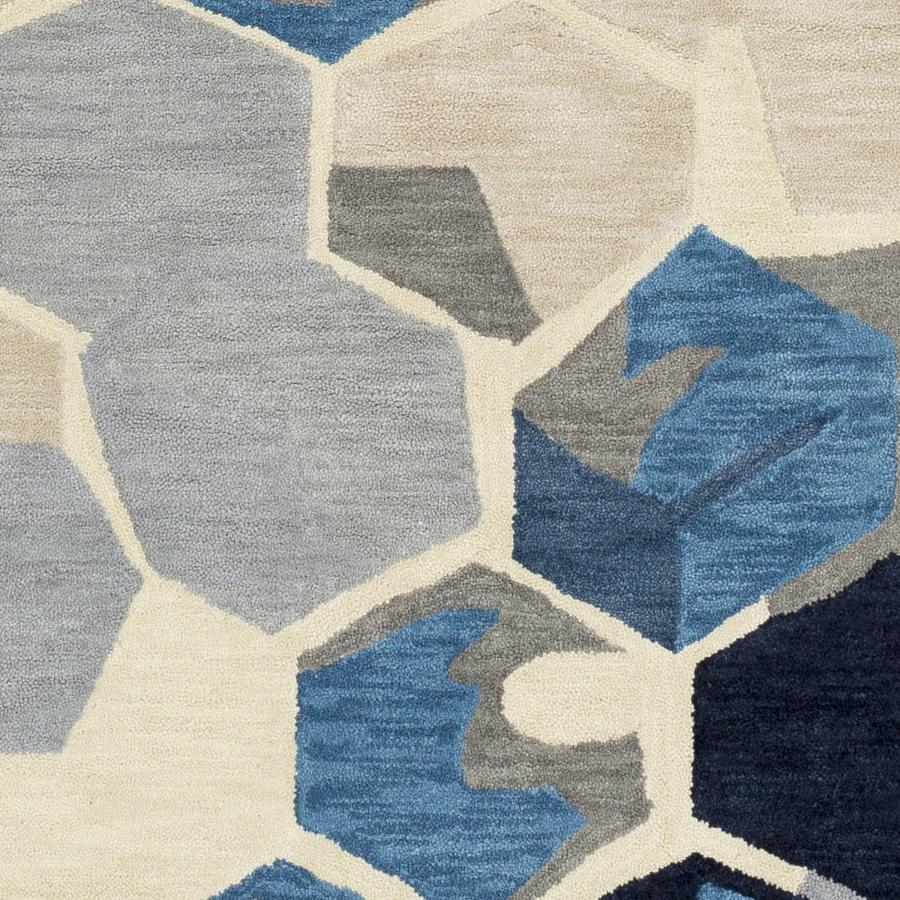 Suryasurya Rivera 8 X 8 Navy Square Indoor Abstract Industrial Handcrafted Area Rug In Blue Rvr1007 8sq Dailymail