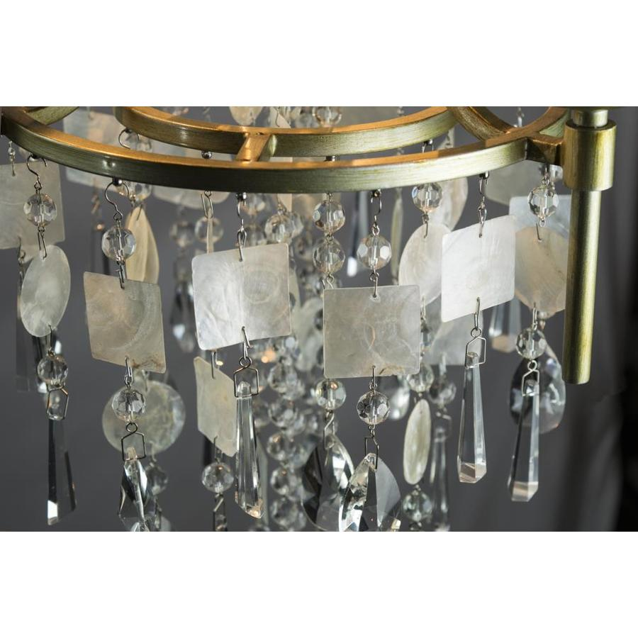 Maxim Lighting 14423CZGS Cebu Chandelier Capiz//Gold Silver