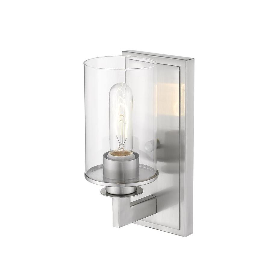 Z Lite Savannah 4 5 In W 1 Light Brushed Nickel Modern Contemporary Wall Sconce In The Wall Sconces Department At Lowes Com